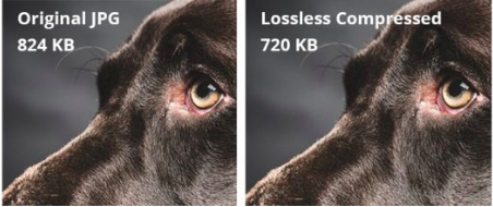 Two images showing results of lossless compression